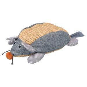 Игрушка-дряпка для кошек Мышка сизалевая с мятой Trixie бежевая/серая 30 см.