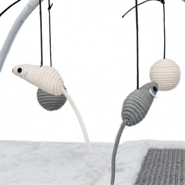 Коврик игровой для котов с дряпкой Trixie графит/светло-серый, плюш/сизаль 60×33×42 см.