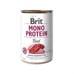 Консервы для собак Brit Mono Protein BEEF с говядиной 400 гр.