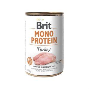 Консервы для собак Brit Mono Protein TURKEY с индейкой 400 гр.