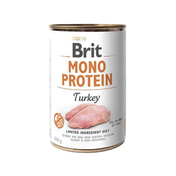 Консервы для собак Brit Mono Protein TURKEY с индейкой 400 гр.