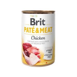 Консервы для собак Brit Pate & Meat CHICKEN с курицей 400 гр.