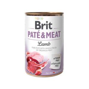 Консервы для собак Brit Pate & Meat LAMB с ягненком 400 гр.