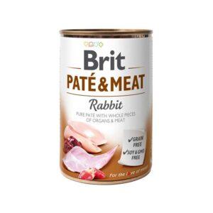 Консервы для собак Brit Pate & Meat RABBIT с кроликом 400 гр.