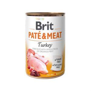 Консервы для собак Brit Pate & Meat TURKEY с индейкой 400 гр.
