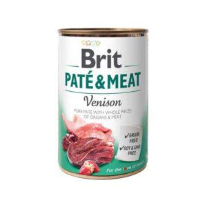 Консервы для собак Brit Pate & Meat VENISON с олениной 400 гр.