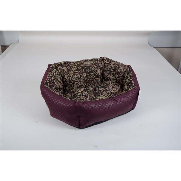 """Лежак для собак Природа Pet Fashion """"КОКОС"""" 1; 2; 3 орнамент-бордо"""