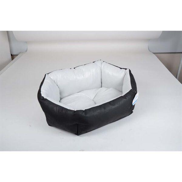 """Лежак для собак Природа Pet Fashion """"КОКОС"""" 1; 2; 3 серебро-черный"""