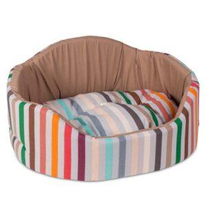 """Лежак для собак и кошек Природа Pet Fashion """"КОРАЛЛ"""" 1; 2; 3 бежевый"""