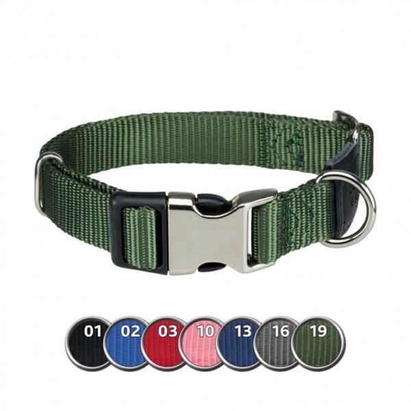"""Ошейник для собак """"Premium"""" Trixie нейлон, с металлической защелкой XS-S 21-30 см./10 мм."""