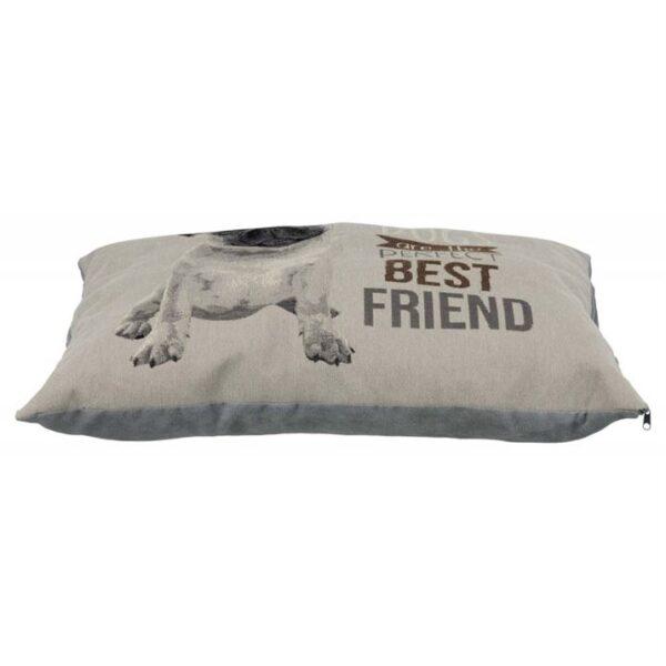 "Подушка с мопсом для собак ""Chipo"" Trixie серая, жаккард 60х48 см."