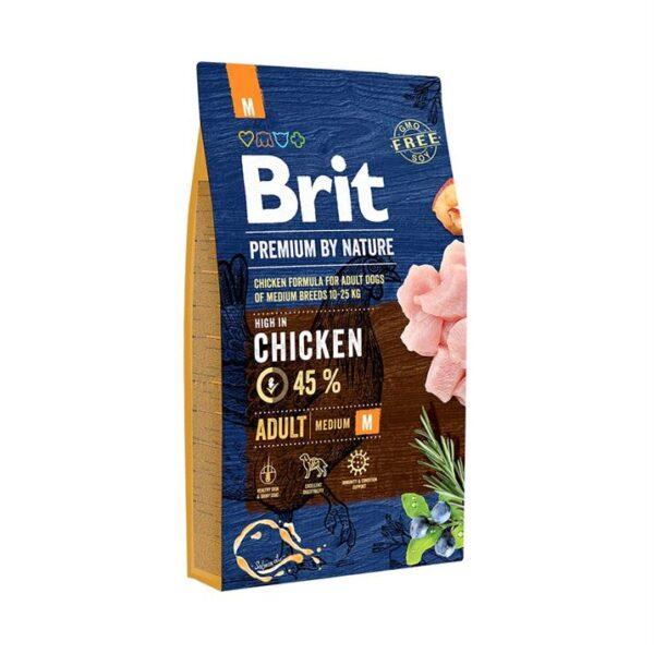 Сухой корм для взрослых собак средних пород Brit Premium Dog Adult M