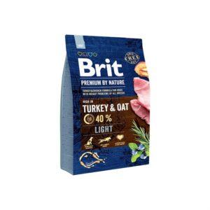 Сухой корм для собак с избыточным весом Brit Premium Dog Light Turkey & Oats