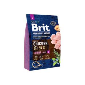 Сухой корм для щенков и молодых собак маленьких пород Brit Premium Dog Junior S