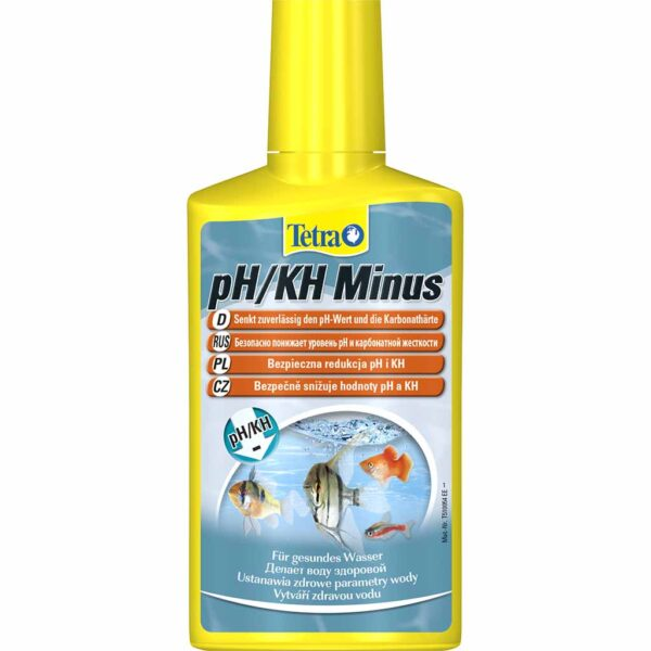Средство для снижения карбонатной жесткости воды в аквариуме Tetra pH/KH Minus 100 мл.; 250 мл.