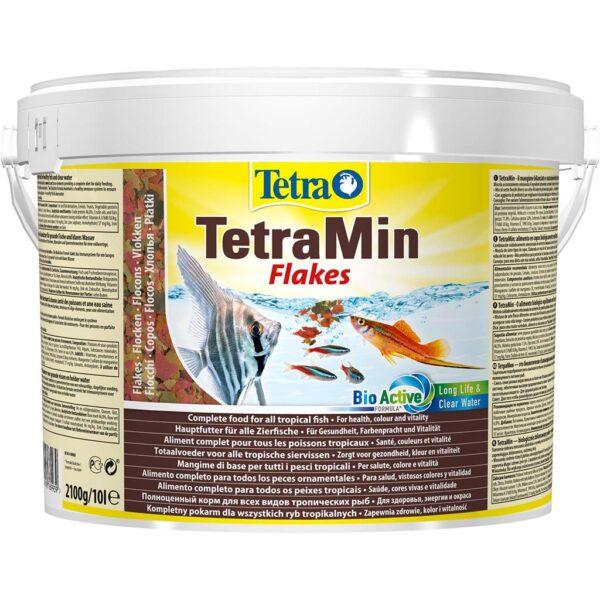 Сухой корм для аквариумных рыб в хлопьях Tetra Min (для всех видов тропических рыб) 100 мл.; 250 мл.; 500 мл.; 1 л.; 10 л.