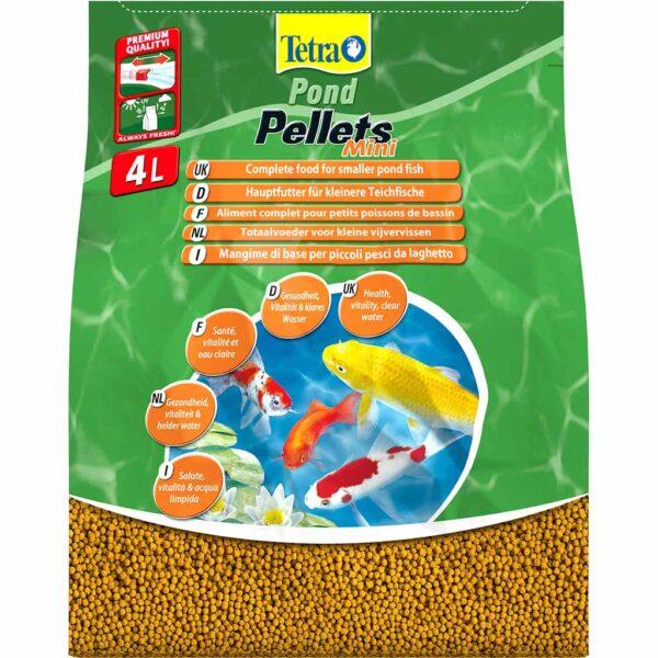 Сухой корм для прудовых рыб в гранулах Tetra POND Pellets small (для всех прудовых рыб) 7 л.