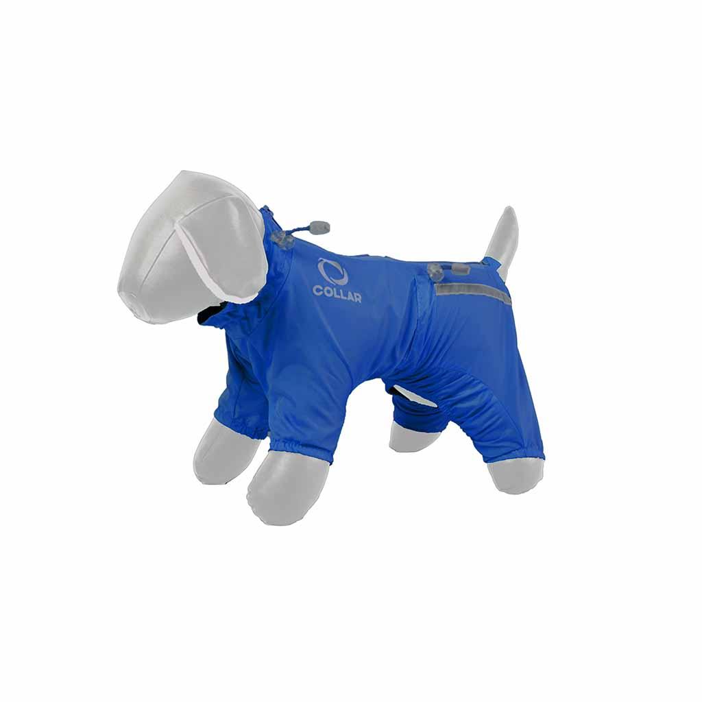 Дождевик для собак Collar ТМ Теремок (синий, для всех ...