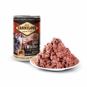 Консервы для собак Carnilove Dog LAMB & WILD BOAR с ягненком и кабаном 400 гр.