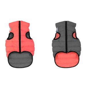 Курточка двусторонняя для собак Collar Airy Vest кораллово-серая