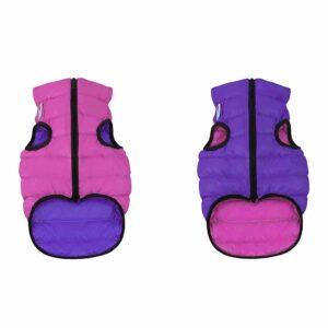 Курточка двусторонняя для собак Collar Airy Vest розово-фиолетовая