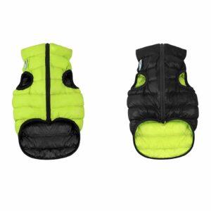 Курточка двусторонняя для собак Collar Airy Vest салатово-черная