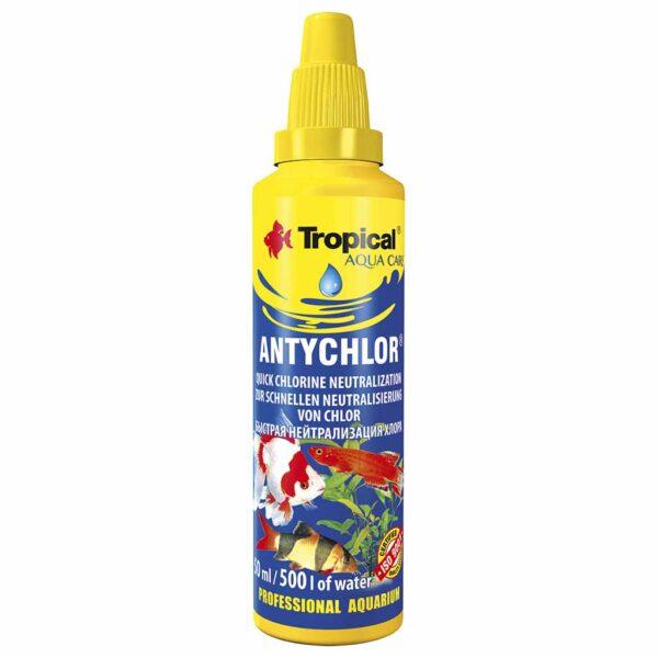 Средство для подготовки водопроводной воды Tropical Antychlor 50 мл.