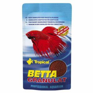 Сухой корм для аквариумных рыб в гранулах Tropical Betta Granulat (для петушков) 10 гр.