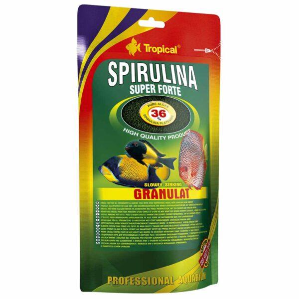 Сухой корм для аквариумных рыб в гранулах Tropical Super Spirulina Forte Granulat (для травоядных рыб) 550 гр.