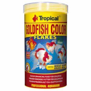 Сухой корм для аквариумных рыб в хлопьях Tropical Goldfish Color (для золотых рыбок)
