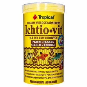 Сухой корм для аквариумных рыб в хлопьях Tropical Ichtio-Vit (для всех видов рыб)