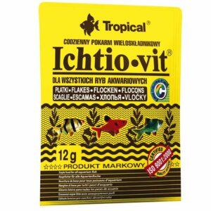 Сухой корм для аквариумных рыб в хлопьях Tropical Ichtio-Vit (для всех видов рыб) 12 гр.