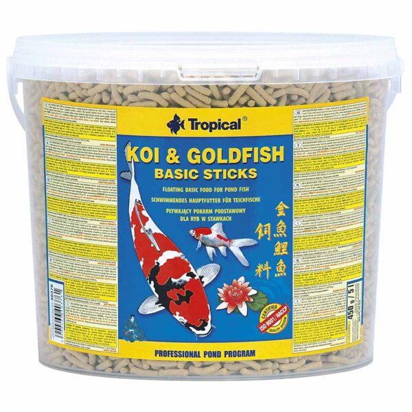 Сухой корм для прудовых рыб в палочках Tropical Koi & Goldfish Basic Sticks (для всех прудовых рыб)