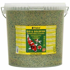 Сухой корм для прудовых рыб в палочках Tropical Koi & Goldfish Vegetable Sticks (растительный корм)