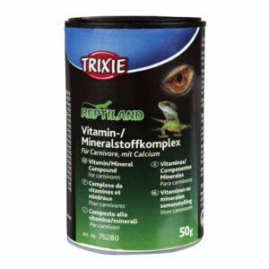 Витаминно-минеральная добавка с кальцием для плотоядных рептилий Trixie 50 гр.