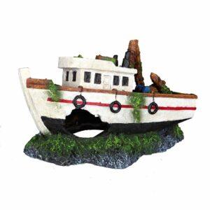 Декорация для аквариума – Затонувшая лодка Trixie 15 см.