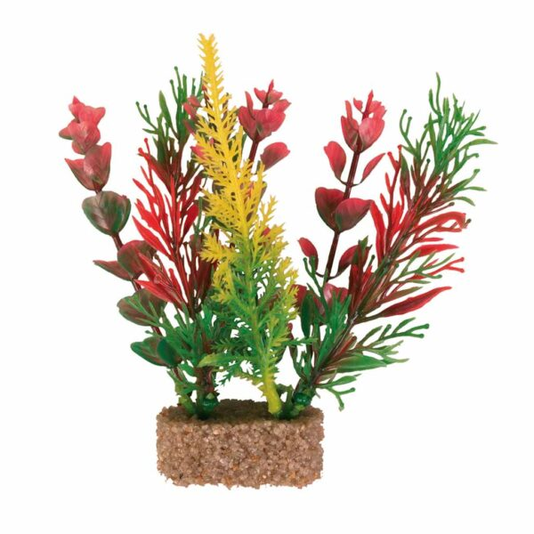 Декорация для аквариума – Пластиковое растение с утяжелителем Trixie 12 см.