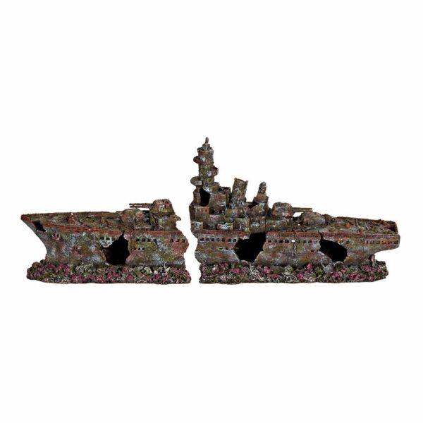 Декорация для аквариума – Разбитый корабль Trixie 2 части 70 см.