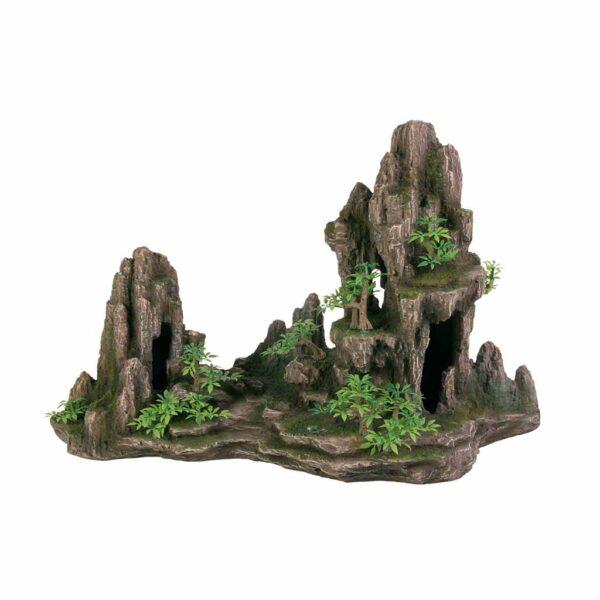 Декорация для аквариума – Скала с растениями Trixie 45 см.