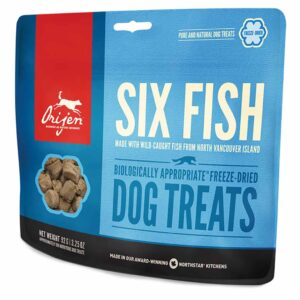 Лакомство для собак – ORIJEN 6 FISH DOG TREATS