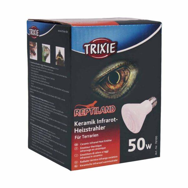 Лампа керамическая инфракрасная Trixie (для обогрева) 50 W; 100 W