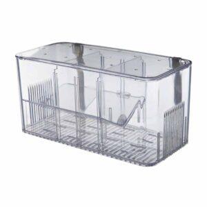 Отсадник для рыб пластиковый с тремя секциями Trixie 20x10x10 см.