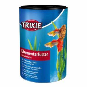 Сухой корм для аквариумных рыб в хлопьях Trixie Elementary Food (для всех видов декоративных рыб) 250 мл.; 1 л.