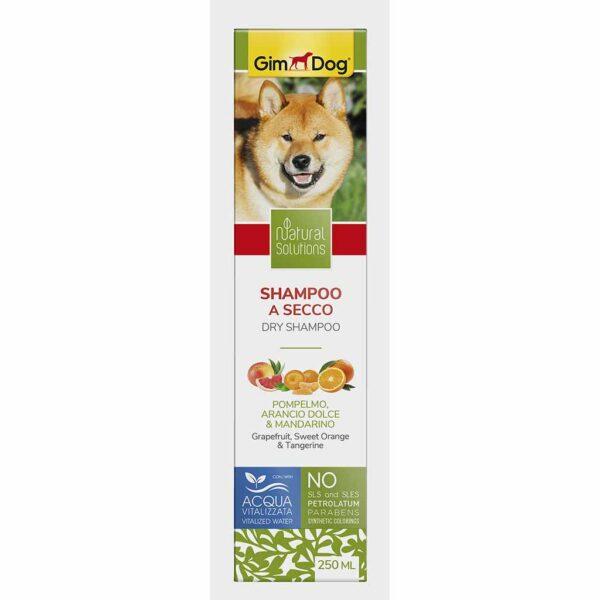 Сухой шампунь для собак и щенков Natural Solutions GimDog 250 мл.