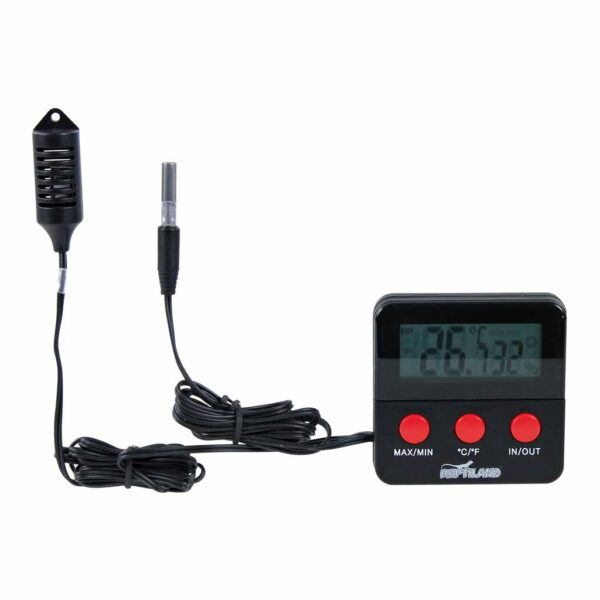 Термометр-гигрометр электронный, дистанционный для террариума Trixie 6х6 см.