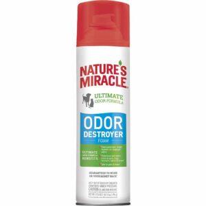 Уничтожитель запахов от собак и кошек, аэрозоль-пена 8 in 1 Nature`s Miracle 518 мл.