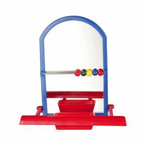 Игрушка для птиц Trixie Зеркало с кормушкой (пластик, различные расцветки) 8 см.